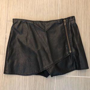 Peer People leather mini skirt skort